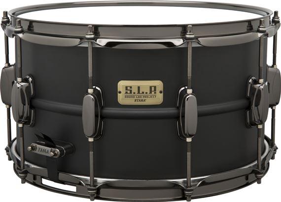 tama lst148 slp big black steel snare drum. Black Bedroom Furniture Sets. Home Design Ideas