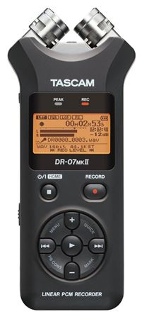 Tascam DR07mkII Portable Stereo Digital Recorder