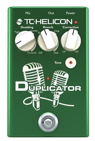 TC Helicon Duplicator Vocal Double Tracking Effects Pedal