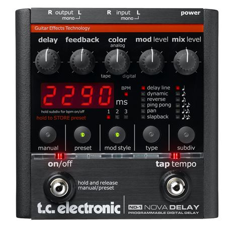 TC Electronic ND 1 Nova Delay Pedal