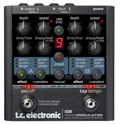 TC Electronic NM 1 Nova Modulator Guitar Multieffects Pedal