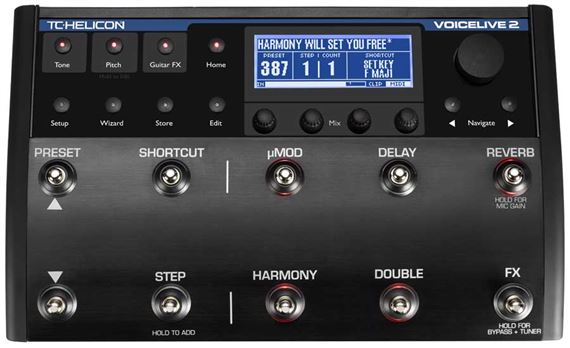 tc helicon voicelive 2 vocal effects processor pedal. Black Bedroom Furniture Sets. Home Design Ideas