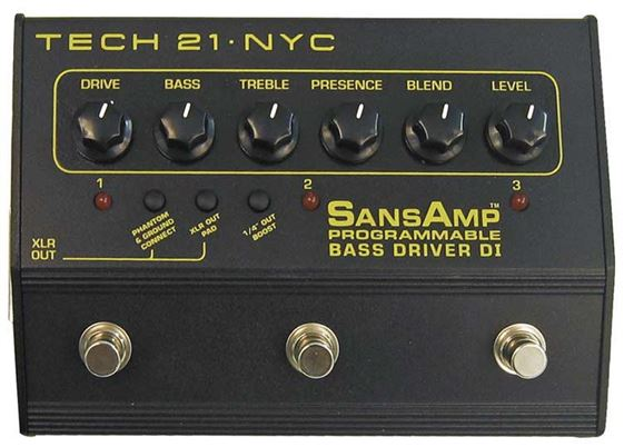 Tech 21 SansAmp Bass Driver DI Pedal