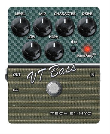 Tech 21 SansAmp Character Series VT Bass V2 Guitar Pedal