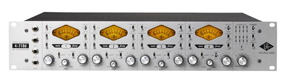 Universal Audio 4 710D Four Channel Microphone Preamp