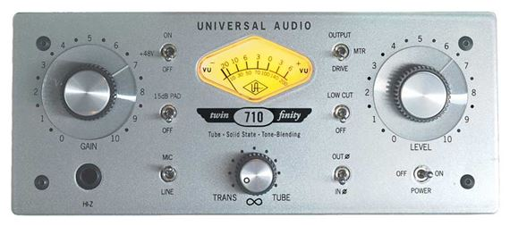 Universal Audio 710 Twin Finity Microphone Preamp
