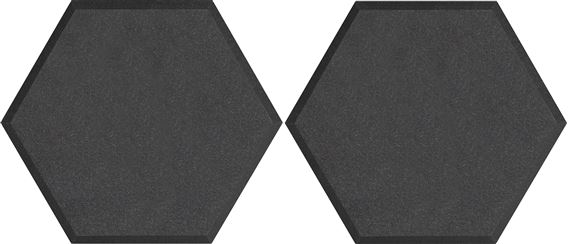 Ultimate Acoustics 24 inch Hexagonal Foam Wall Panel Pair