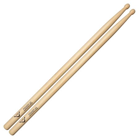 Vater Power 3A Hickory Wood Tip Drumsticks Pair