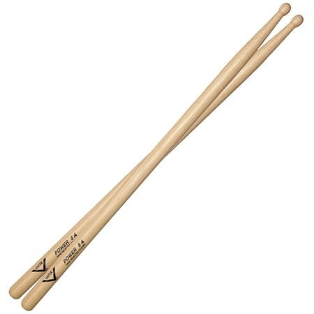 Vater 5A Power Hickory Wood Tip Drumsticks Pair
