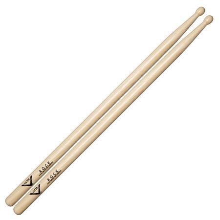Vater VHRW Rock Wood Tip Hickory Drum Sticks Pair