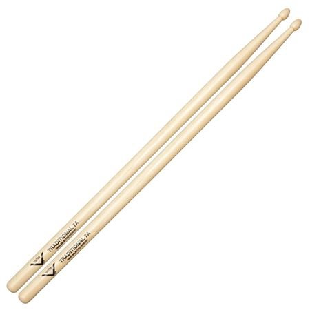 Vater Traditional 7A Hickory Wood Tip Drumsticks Pair