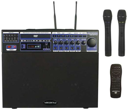 VocoPro DVD Soundman Wireless Mic Karaoke PA System