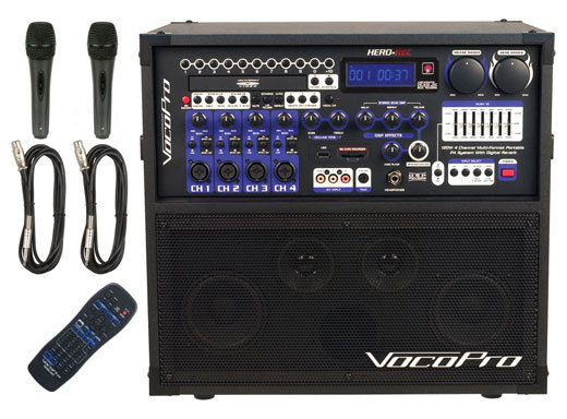 VocoPro Hero Rec Portable PA with Digital Recording