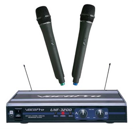 VocoPro UHF3200 Wireless Handheld Microphone System