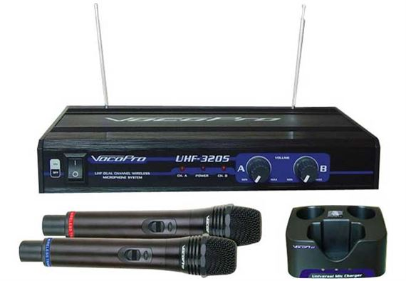 VocoPro UHF3205 Rechargable Wireless Handheld Mic System