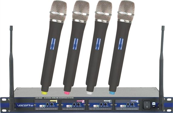 VocoPro UHF5800 Wireless Handheld Microphone System