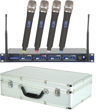 VocoPro UHF5800 Wireless Handheld Mic System with Bag