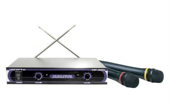 VocoPro VHF3005 Dual Handheld Wireless Microphone System