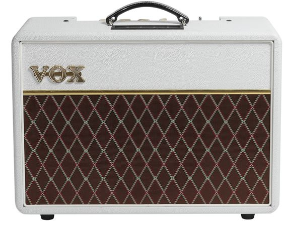 Vox AC10 Electric Guitar Amplifier Combo 10 Watts Limited White Bronco