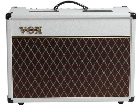 Vox AC15 Electric Guitar Amplifier Combo 15 Watts Limited White Bronco