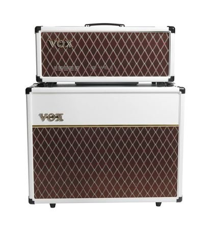 Vox AC15 Electric Guitar Amplifier Head 15 Watts Limited White Bronco