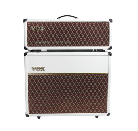 Vox AC30 Electric Guitar Amplifier Head 30 Watts Limited White Bronco