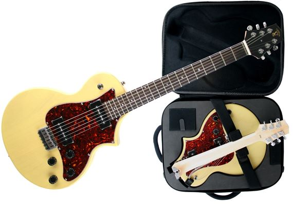 Voyage Air TransAxe BelAir Folding Electric Guitar With Bag TV Yellow