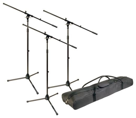 World Tour MSP300 Microphone Stand 3 Pack With Bag