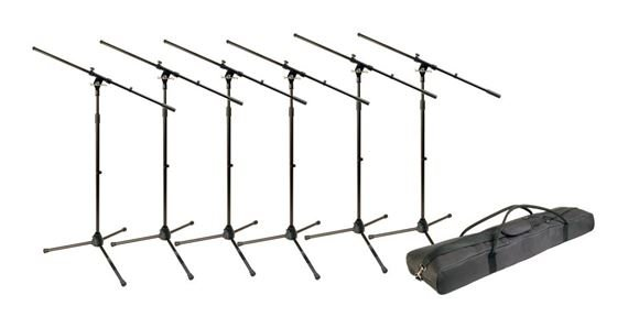 World Tour MSP600 Microphone Stand 6 Pack With Bag