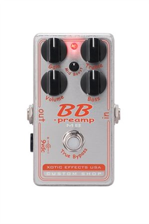Xotic Custom Shop BBP-MB Preamp Pedal with Mid-Boost