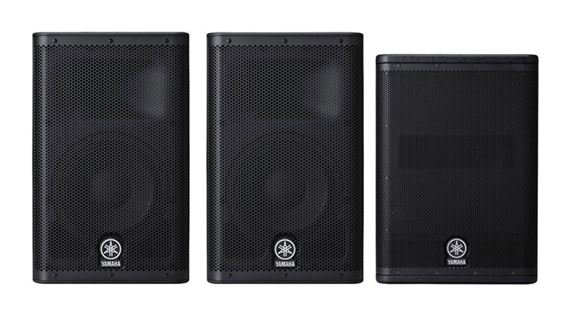 Yamaha DXR10 and DXS12 Powered PA Speaker Package