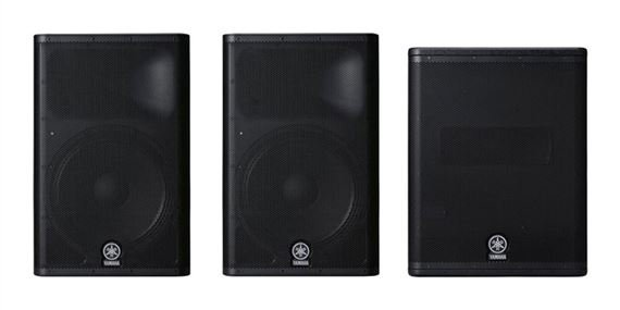 Yamaha DXR15 and DXS15 Powered PA Speaker Package
