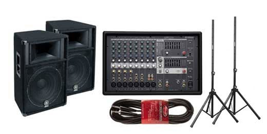 Yamaha EMX512SC Powered Mixer Package with 2 S115V Speakers
