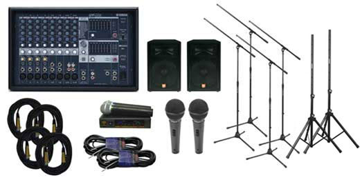 Yamaha EMX512SC Powered Mixer Package w2 JBL JRX Speakers