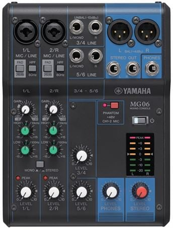 Yamaha MG06 6 Channel Stereo Mixer