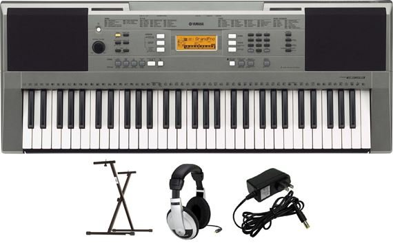 Yamaha PSRE353 PKY 61-Key Keyboard with Y-Stand AC Adapter and Headphones