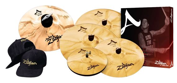"Zildjian A Custom Cymbal Set with Free 18"" Crash 8"" Splash and Cap"