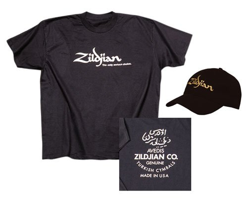 Zildjian Classic Black T-Shirt and Hat Package