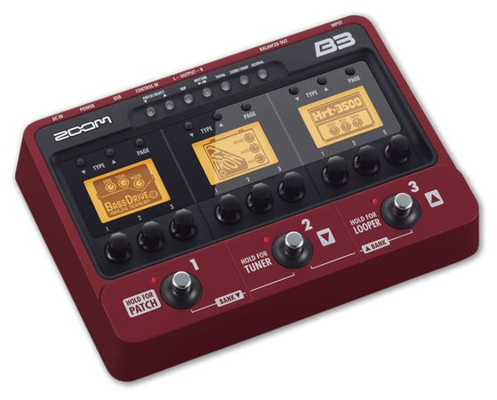 Zoom B3 Bass Multieffects Pedal and USB Interface