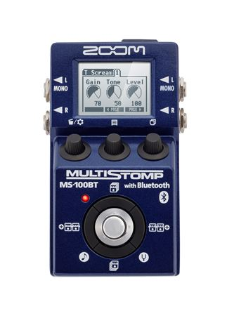 Zoom MS100BT MultiStomp Guitar Effects Pedal with Bluetooth