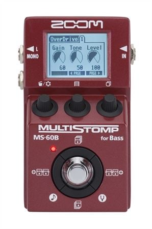 Zoom MS60B Multistomp Bass Guitar Multieffects Pedal