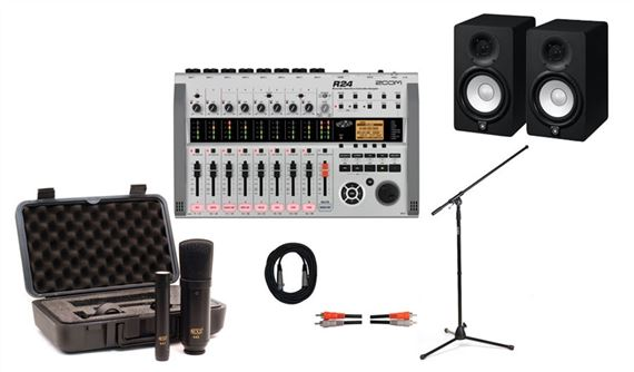 Zoom R24 Multitrack Recording Package