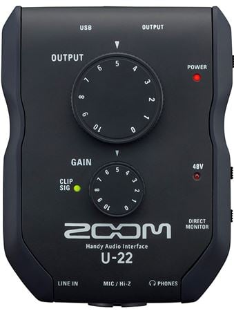 Zoom U22 2-In 2-Out USB Audio Interface
