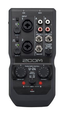 Zoom U24 Portable USB Audio Interface