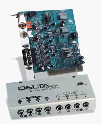 M Audio Delta 66 PCI Audio Interface with Audio Breakout Box