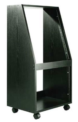 Raxxess ER128 Sloped Studio Rack with Casters