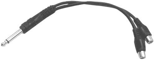 Hosa Y Cable 1/4 Inch TS to Dual RCA Female
