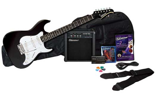 Silvertone Guitars SS11 Electric Guitar and Amp Package