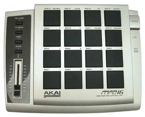 Akai MPD16 USB MIDI Drum Pad Control Surface