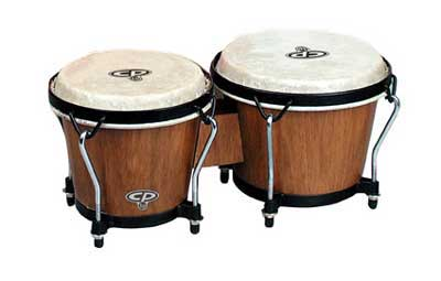Latin Percussion LP CP221 Wood Bongos with Tote Bag